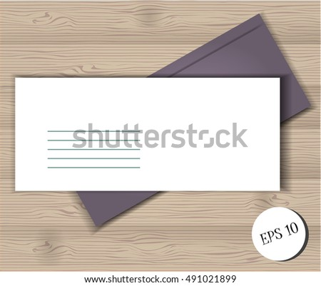 Vector flat template background realistic mock up business form. Company professional office post. Clean cards. Template for web design, education, studying, work