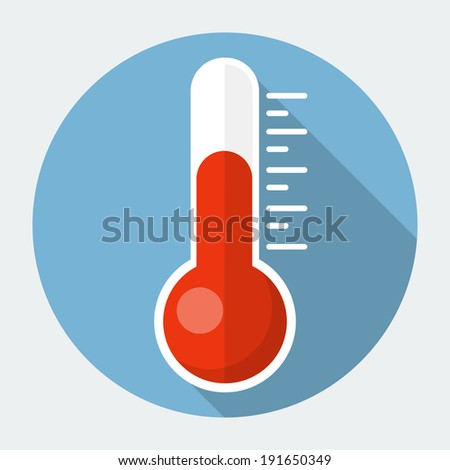 Vector flat thermometer - stock vector
