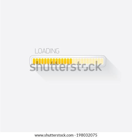 vector flat white modern trendy design progress bar / loading bar / status bar / progress icon template for app or web site - stock vector