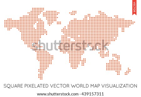 Vector flat world map infographic map stock vector 439157311 vector flat world map infographic map of the world gumiabroncs Gallery