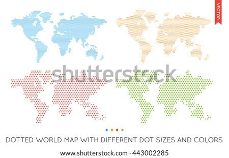 Vector Flat World Map Infographic. Map of the World.