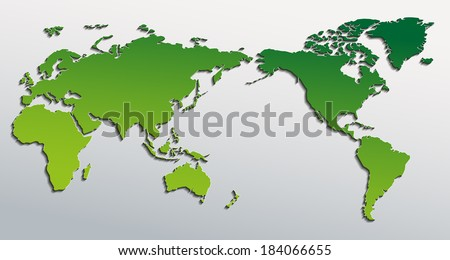 Indian ocean map stock images royalty free images vectors vector flat world map with pacific ocean planet earth background all the continents of gumiabroncs Choice Image