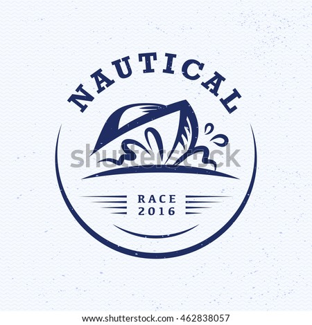 Vector flat yacht club regatta logo stock vector 462838057 vector flat yacht club regatta logo design sailing boat ship icon silhouette toneelgroepblik Image collections