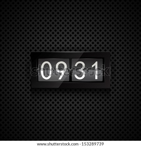 Vector flip clock - stock vector