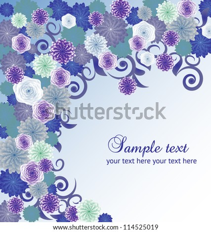Vector floral abstract background. eps 10 - stock vector