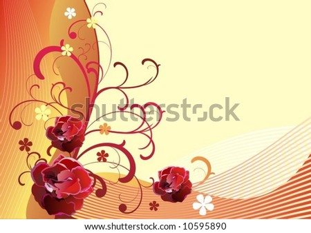 vector floral background-9 - stock vector