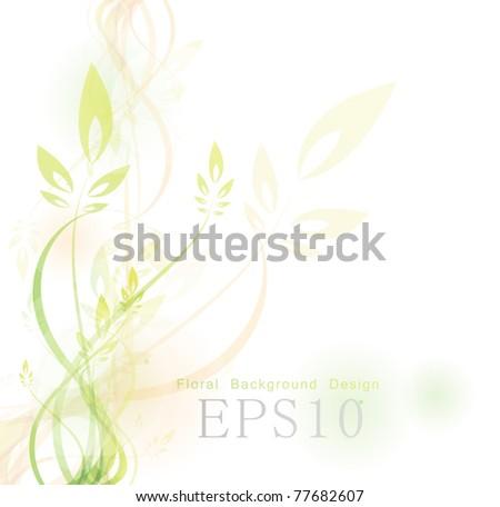 vector floral background design - stock vector