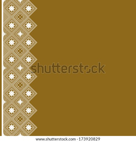vector  floral  background with lace for design - stock vector