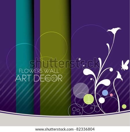 vector floral banner/postar design element, - stock vector