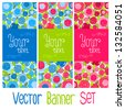 Vector floral banner set. Background with flowers with place for your text or logo. Invitation to party. - stock vector