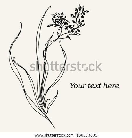 vector floral branch - stock vector