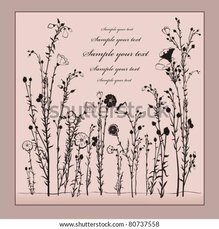 Vector floral card - stock vector