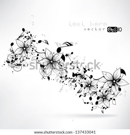 vector floral design element - stock vector