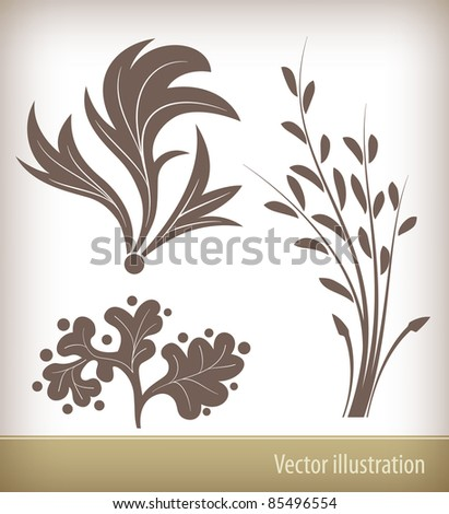 Vector floral elements for design - stock vector