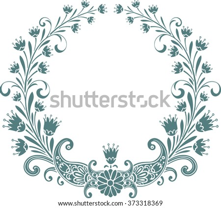 Vector floral frame - stock vector