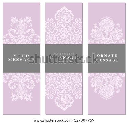 Vector Floral Frame Set. Easy to edit. Perfect for invitations or announcements. - stock vector