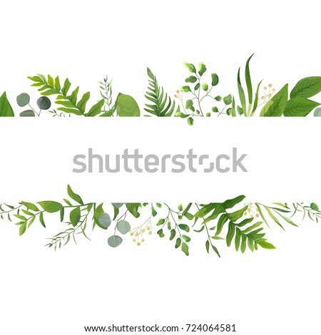 Vector floral greenery card design forest stock vector for Watercolor greenery