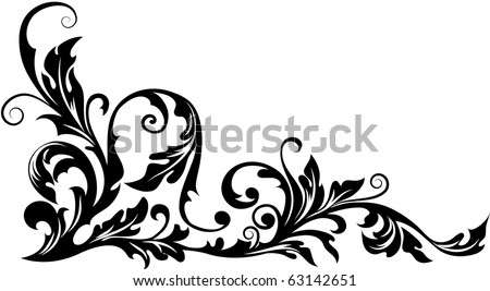 Vector floral ornament - stock vector
