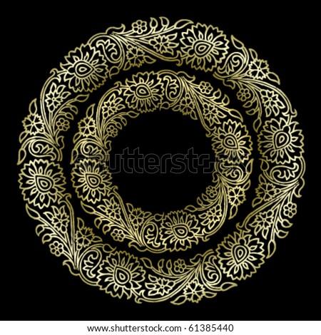 Vector Floral Ornament Texture - stock vector