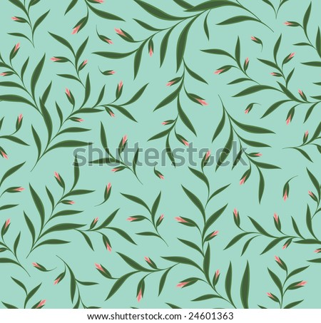 Vector floral seamless background pattern - stock vector