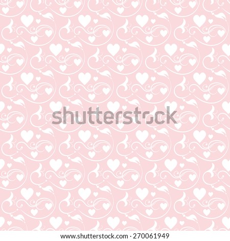 Vector Floral Seamless Pattern Background. Wallpaper Wedding. Abstract Background for your design. Modern style. For design of cards, invitations, book, web design. Cute pink color - stock vector