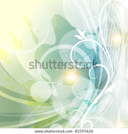 vector floral style background design - stock vector