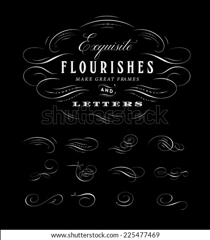Vector Flourishes Collection - stock vector