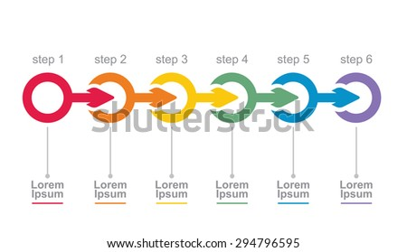 Vector flow chart template, with arrows