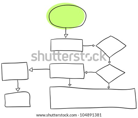Vector flowchart is isolated on a white background