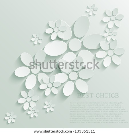 Vector flower background. Eps10 - stock vector
