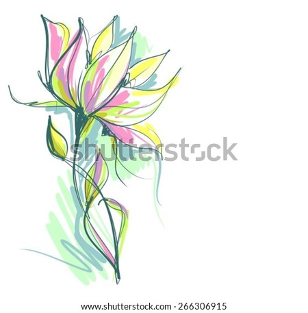 VECTOR Flower background for design, - stock vector