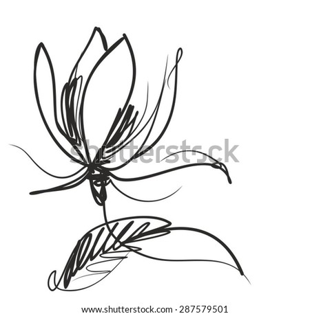 VECTOR    Flower background for design with a tulip