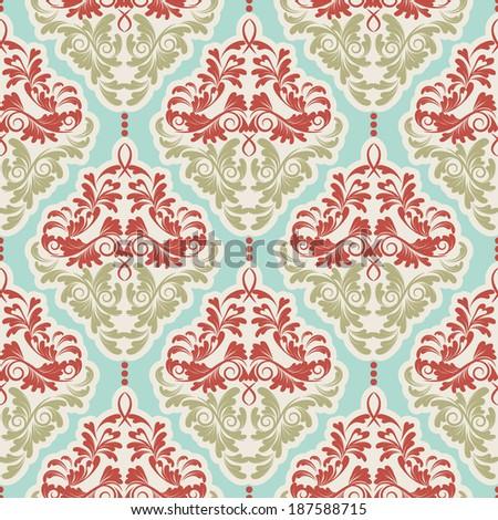 vector flower seamless background.damask pattern.floral wallpaper - stock vector