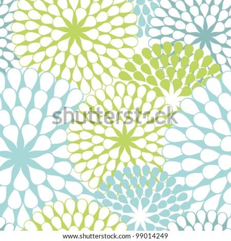 Vector Flower (Seamless Pattern) - stock vector