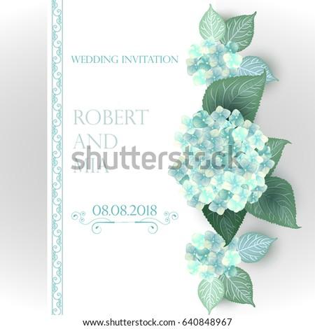 Vector flower wedding invitation card green stock vector 2018 vector flower wedding invitation card green stock vector 2018 640848967 shutterstock stopboris Images