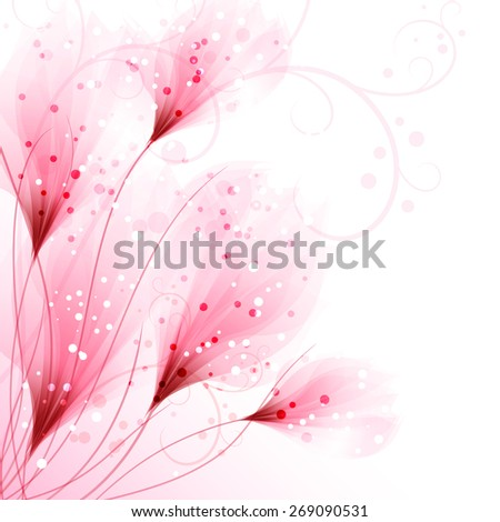 Vector flowers. EPS 10. Contains transparent objects. - stock vector