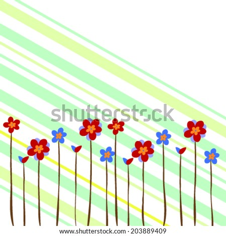 vector flowers, floral background - stock vector