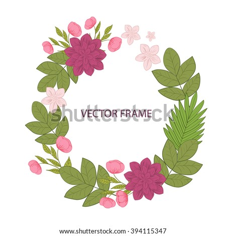 Vector flowers set floral collection leaves stock vector 394115347 vector flowers set floral collection with leaves and flowers spring or summer design for stopboris Image collections