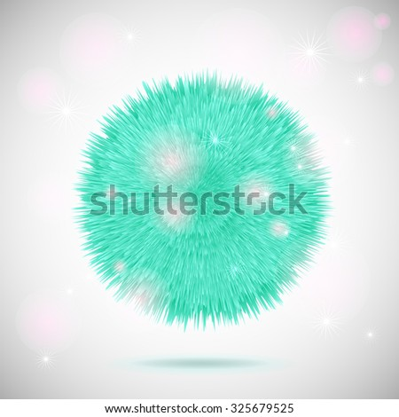 Vector fluffy abstract ball, detailed illustration