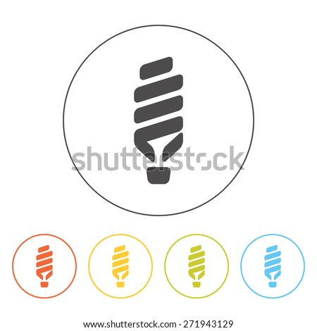 Vector fluorescent lamp. Silhouette of a fluorescent tube. Concept of light, idea, eco-friendly environment, saving electricity - stock vector