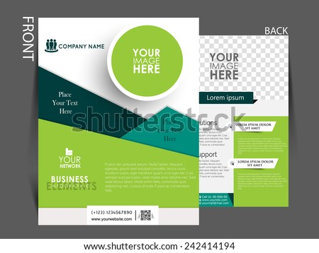 brochure cover page templates free download - vector flyer brochure magazine cover template stock vector