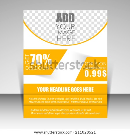 Vector flyer, magazine cover, brochure & poster template can be use for publishing, print and presentation. - stock vector