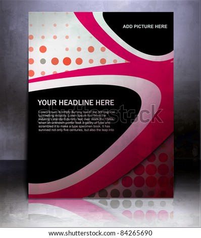 Vector flyer or cover design element background.