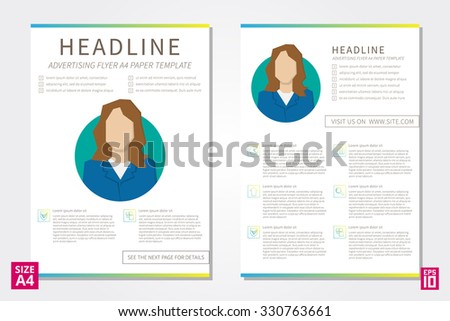 Vector Promotion Leaflet Design Template Sample Stock Vector