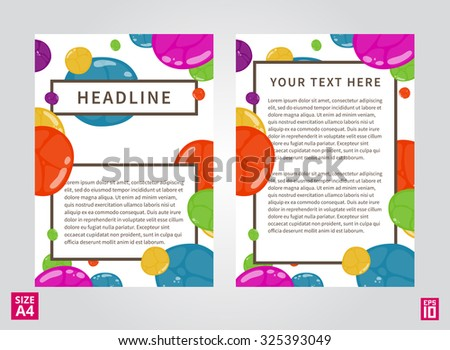 Vector flyer, poster, leaflet, report design template. Layout design, A4 paper design template, fully layered design, colorful vector illustration, presentation.