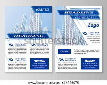 Vector Flyer Template Design Business Brochure Stock Vector