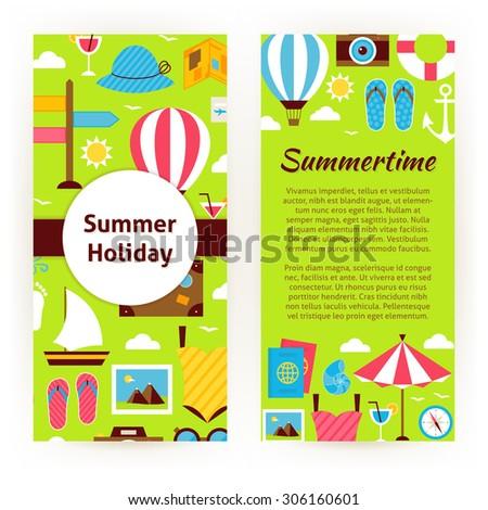 Vector Flyer Template Summer Holiday Concept Stock Vector 2018