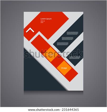 Vector Flyer Template, Poster Cover,Brochure Design. - stock vector
