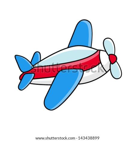 Vector flying airplane - children's icon, symbol - stock vector