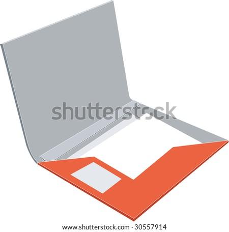 Vector. Folder 06 - stock vector